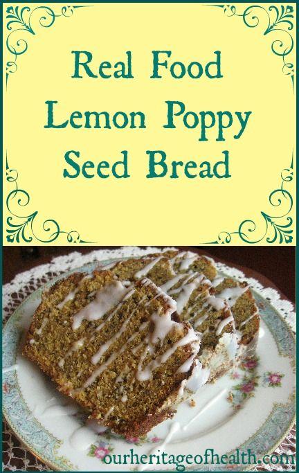 Real food lemon poppy seed bread recipe lemon poppy seed bread real food lemon poppy seed bread recipe forumfinder Image collections
