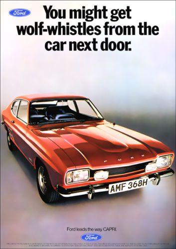 Ford Capri Mk1 Retro A3 Poster Print From Classic 70 S Advert