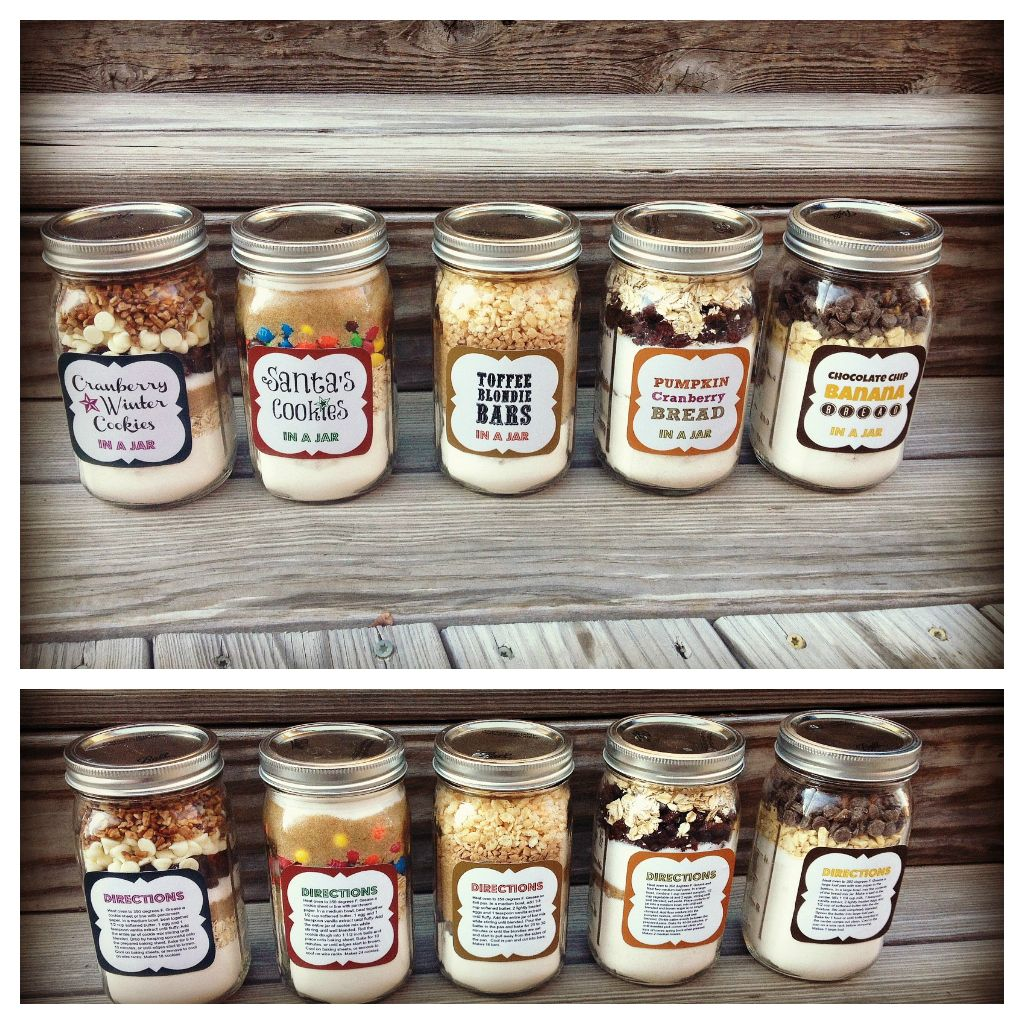 Cookie recipe mason jar gift