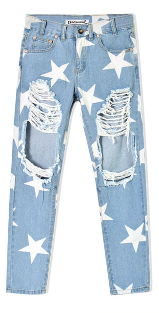 Ripped Stars Denim Jeans Pu27 In 2020 Womens Ripped Jeans Loose