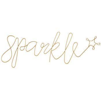 Gold Sparkle Word Metal Wall Decor   Home   Pinterest   Metal ...