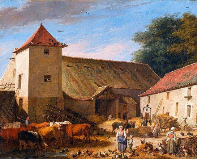 Une cour de ferme au XVIIIe siècle - peindre un crepi exterieur