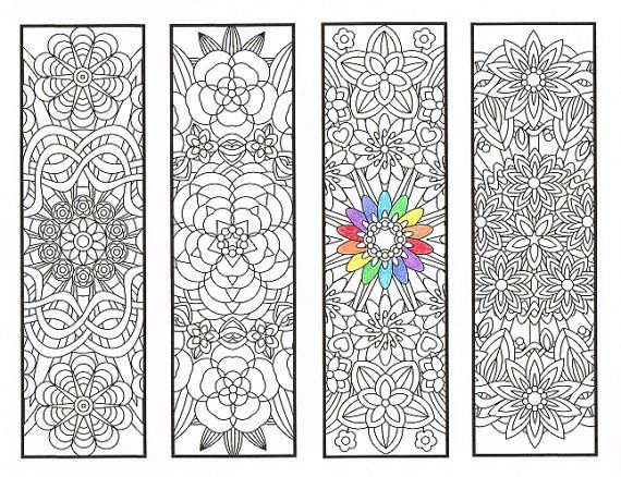 bookworm bookmark template - coloring bookmarks flower mandalas page 1 by candyhippie