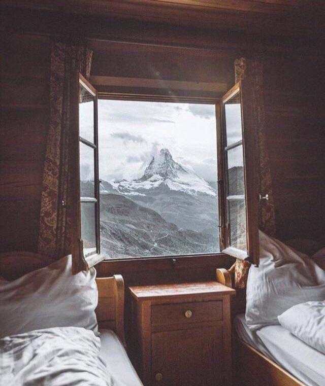 Crisp air warm bed breathtaking view. . . #interiordesign ...
