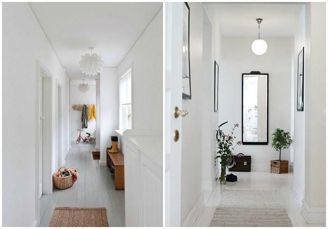 C mo decorar un pasillo estrecho pasillos estrechos - Como pintar un pasillo ...