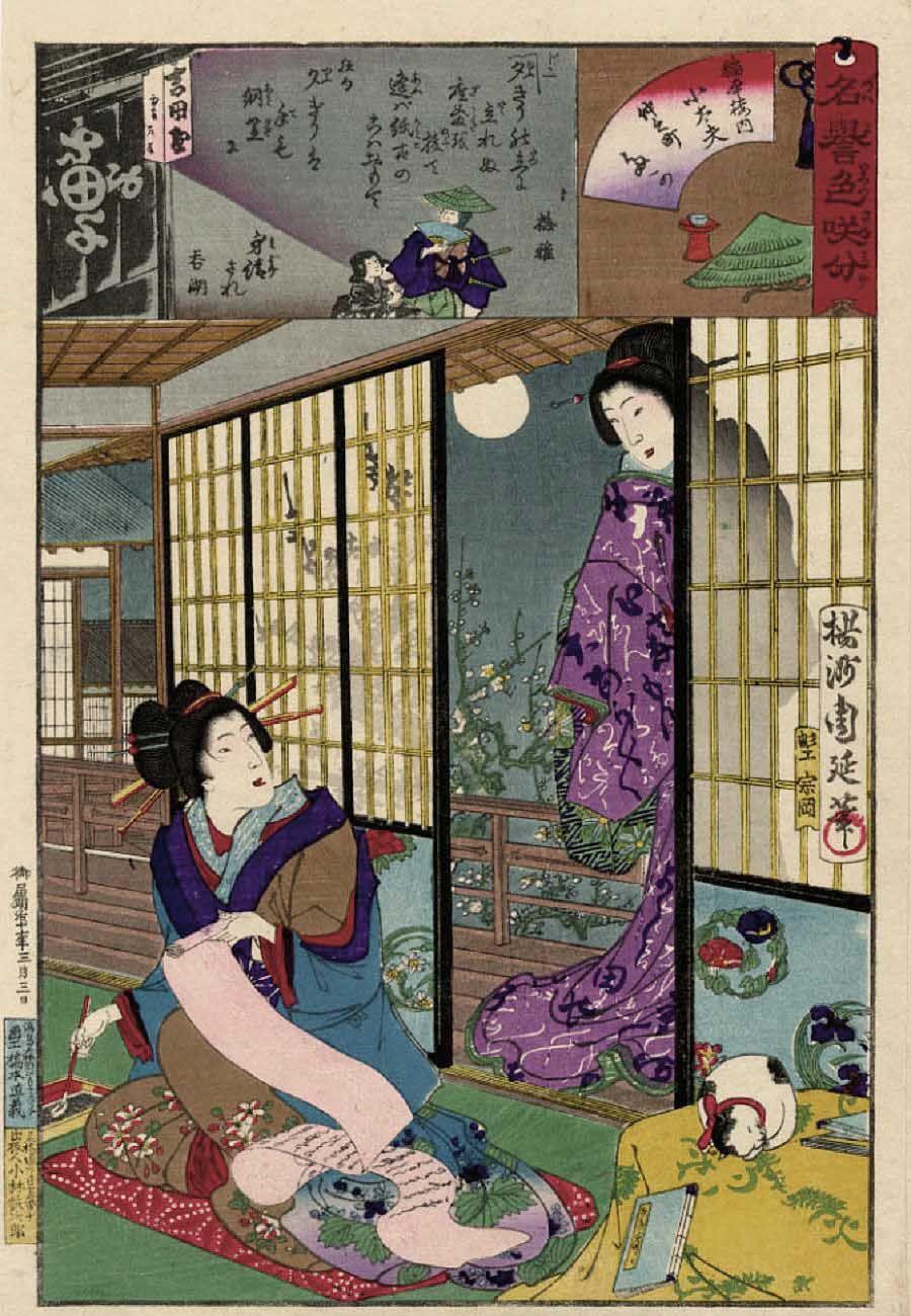 浮世絵の猫 (Yōshū Chikanobu 楊洲周延) 猫 絵, 浮世絵, アートのアイデア
