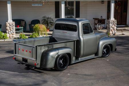 1956 Ford F 100 Desktop Nexus Wallpapers Classic Ford Trucks Ford Trucks Black Truck