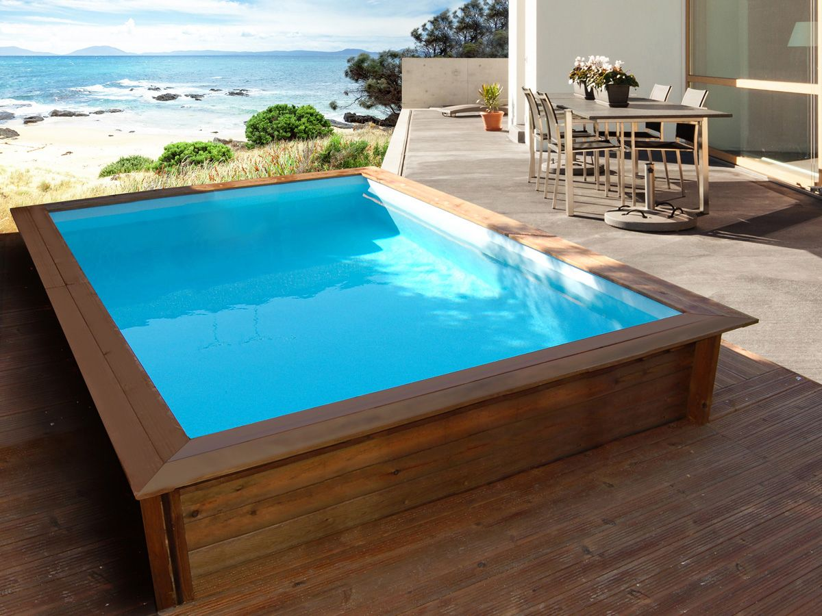 Pin By Gabe Bruce On Fancy Pools In 2019 Wooden Pool Swimming
