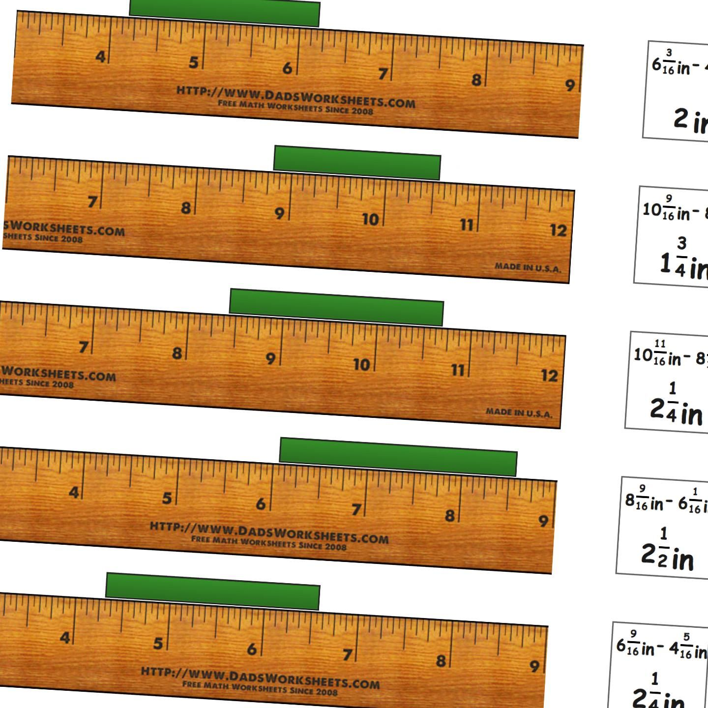 Math Worksheets Measure Inches From All Positions