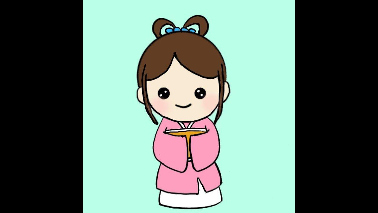 كيفية رسم فتاة في زي صيني How To Draw A Girl In Chinese Costume Drawings Teaching Art Art For Kids