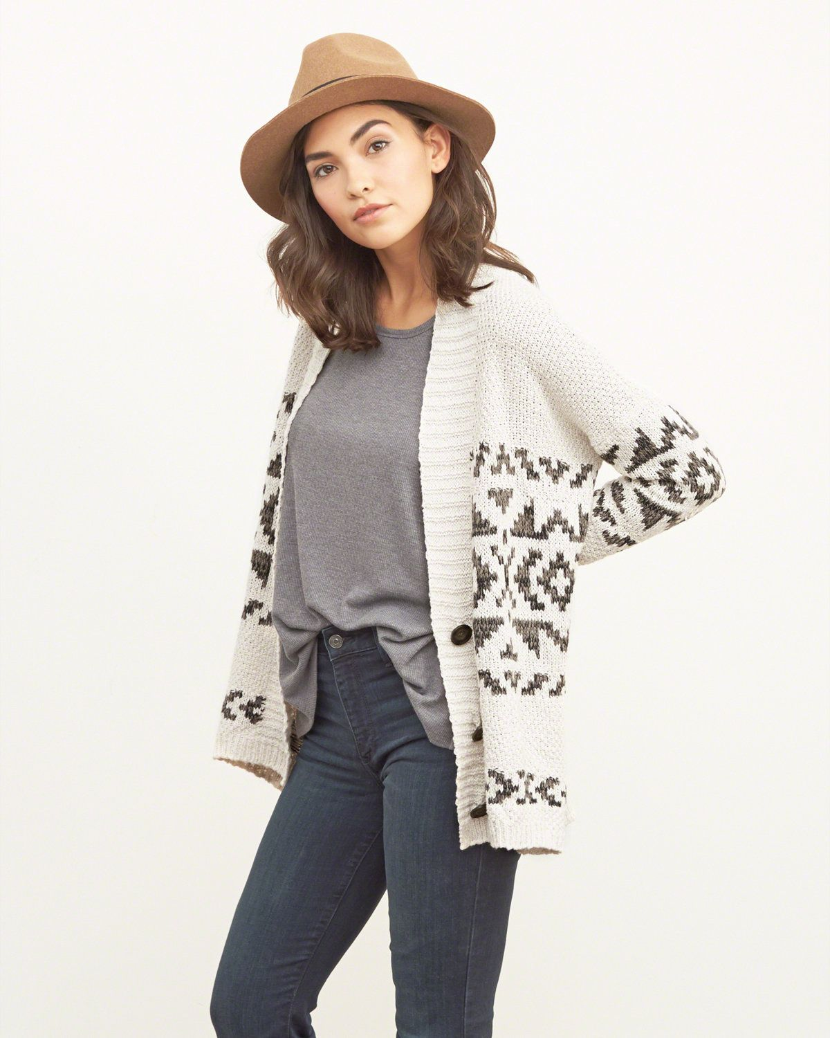 Womens Patterned Boyfriend Cardigan | Supersoft and comfortable ...