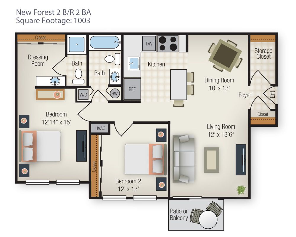 New Forest Apartments In Charles County, MD | The Apartments In St. Charles  2bd