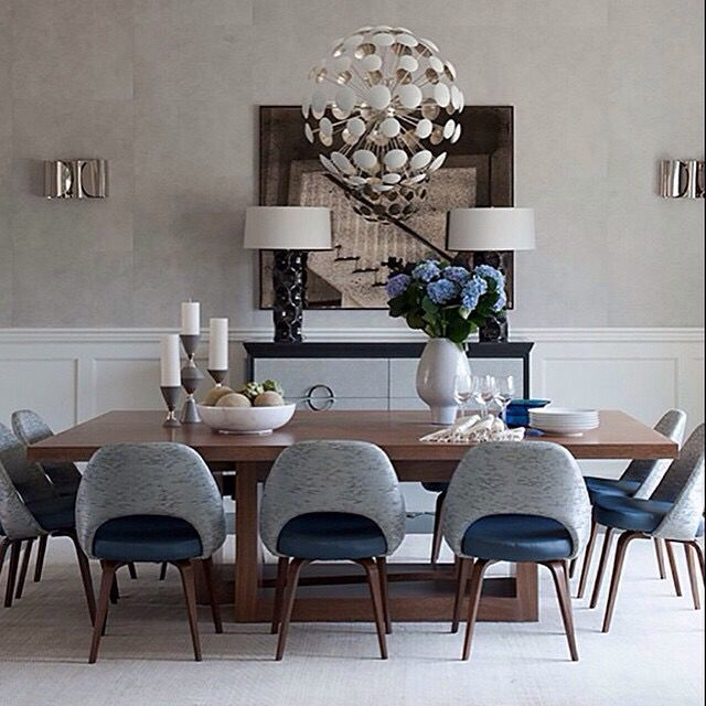 Teal Dining Room: Via Knoll, Inc. Mid Century Two Toned Chair, Modern