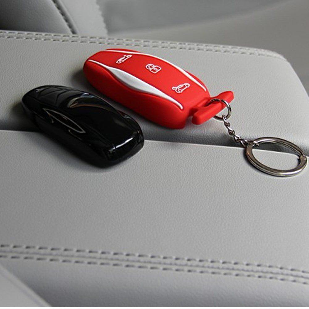 Tesla Silicone Key Fob Cover Case Jacket For Model S