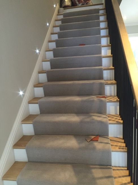 Grey Stair Carpet Runner In North London Client: Private Residence In North  London Brief: