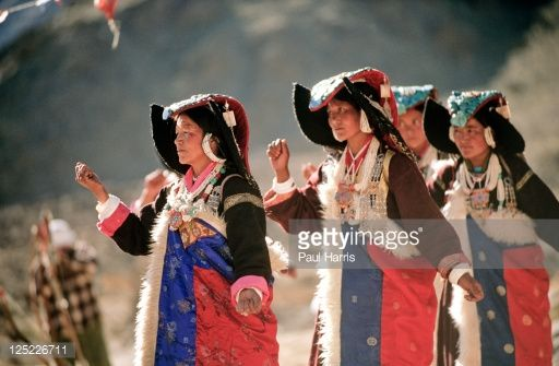 Locals celebrating at the Leh Festival, Leh, Ladakh, North West India
