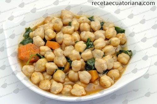 Garbanzos Jugosos  Receta Ecuatoriana  comida ecuatoriana  Food Easy Meals y Beans