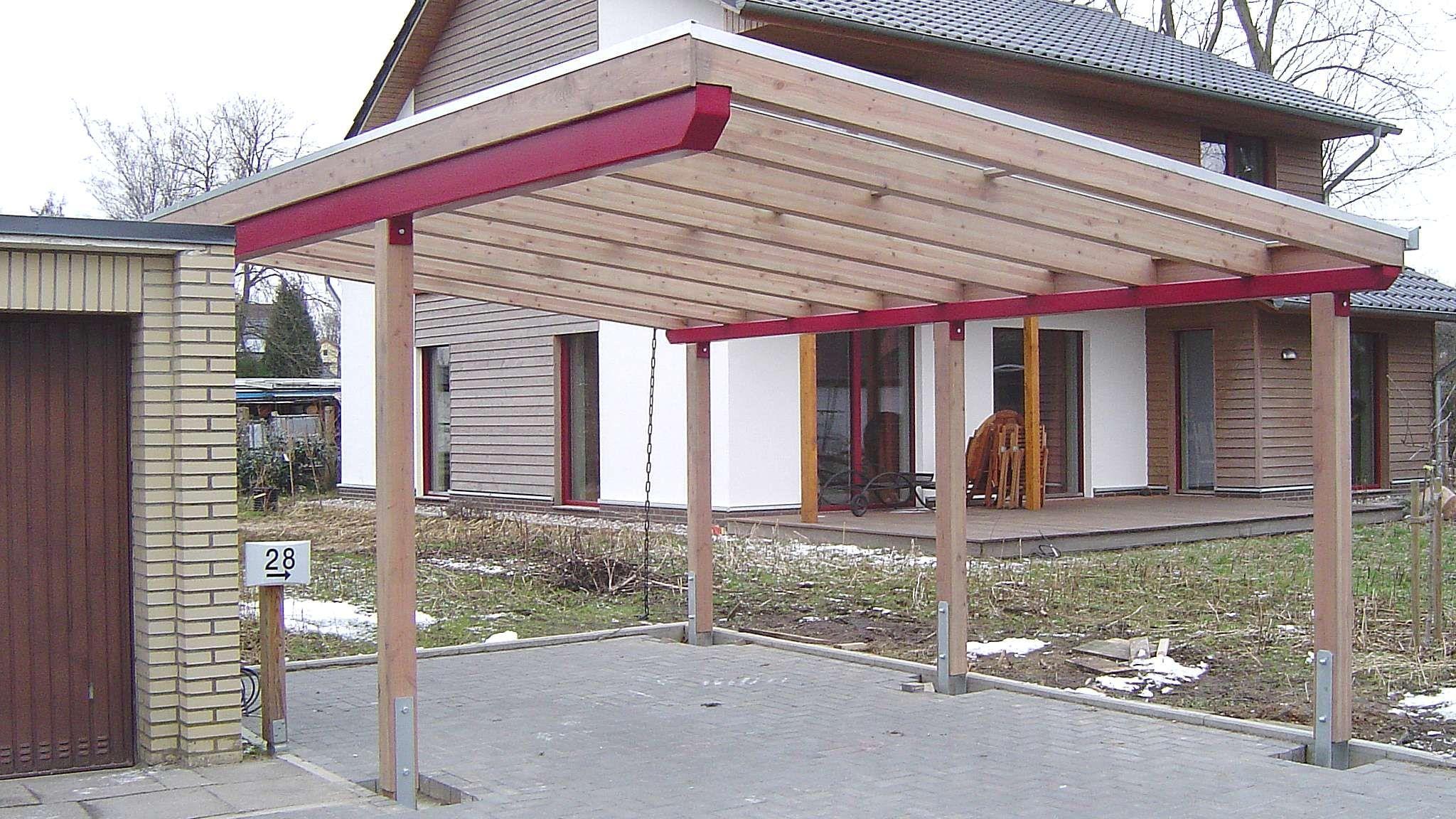 Glasdach Carports Carport in Holz, Alu, Stahl. Carport