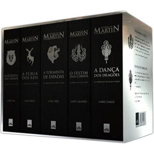 Livro Box Prata As Cronicas De Gelo E Fogo 5 Volumes
