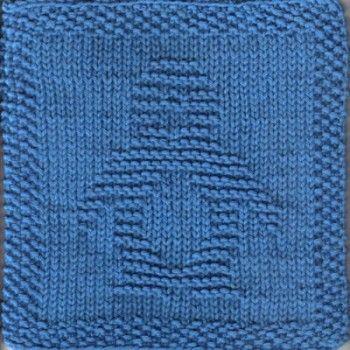 Penguin Knit Dishcloth Pattern Knitting Pinterest Knitted