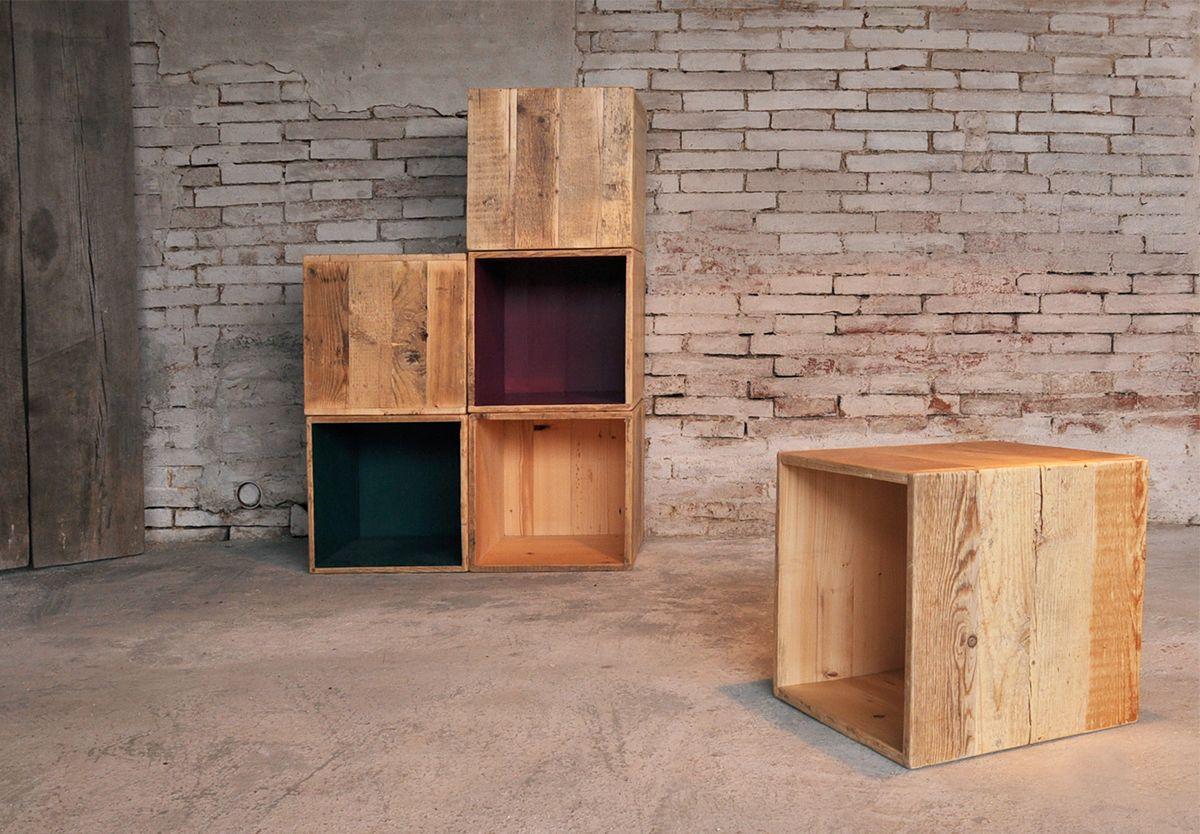 Cubo legno 40 b b restyling interior design design e for Cubi in legno per arredare