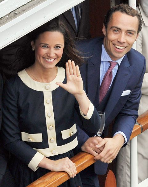Pippa Middleton (L) and James Middleton (R), Thames River Pageant, Diamond Jubilee 2012.