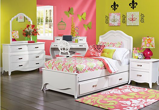 Shop for a Nicolette White 5 Pc Twin Bedroom at Rooms To Go Kids