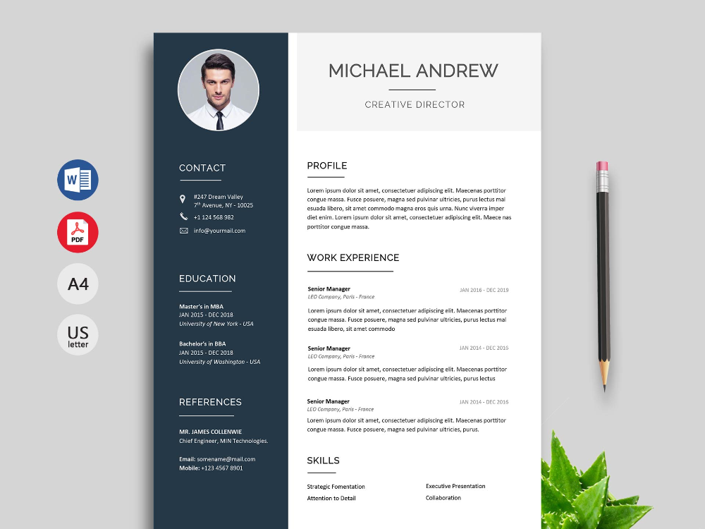 150 Creative Resume Cv Template Free Download 2020 Resumekraft In 2020 Creative Resume Template Free Free Resume Template Download Cv Templates Free Download
