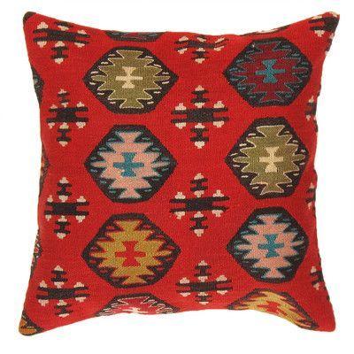 Pasargad Kilim Decorative Wool Throw Pillow