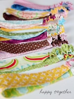 hairbands out of scrap fabric
