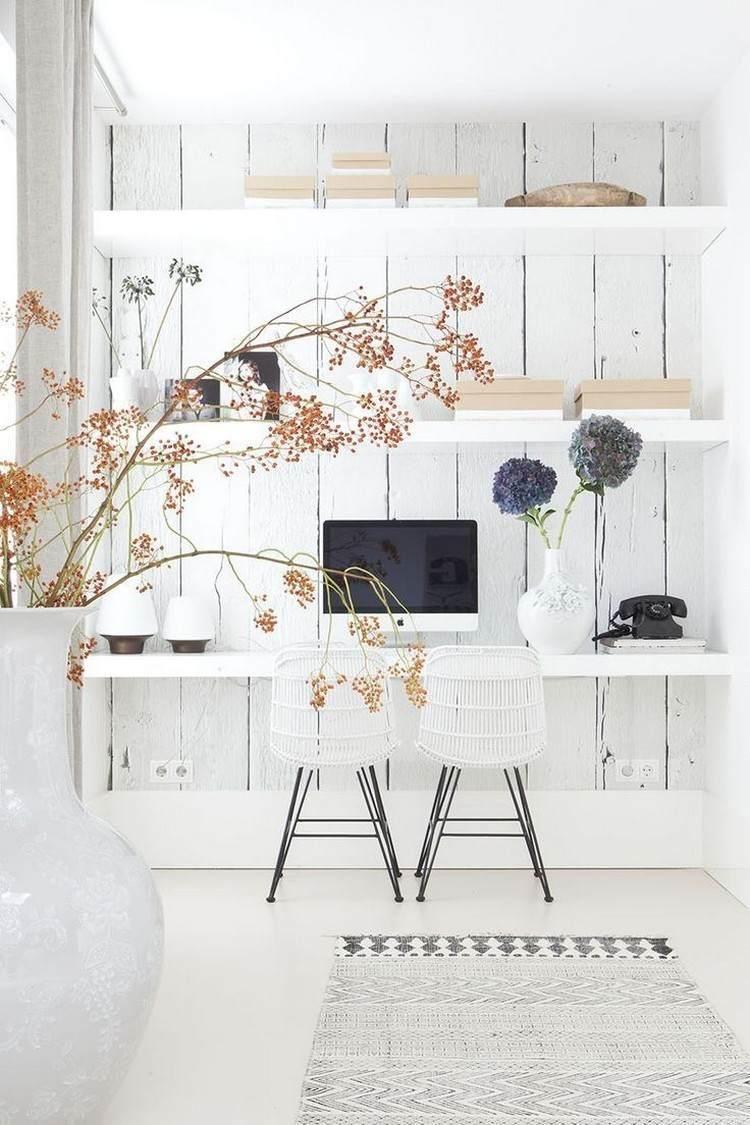 Wohnzimmerwand-nischenentwürfe arbeiten sie von zu hause ideen um eine produktive umgebung zu