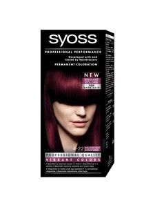 Syoss Color Professional Permanent Coloration 4-22 Scarlet Red Hair Color