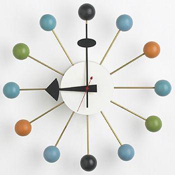 George Nelson Howard Miller Ball Clock 1964 Mid Century Wall Clock Nelson Ball Clock Clock