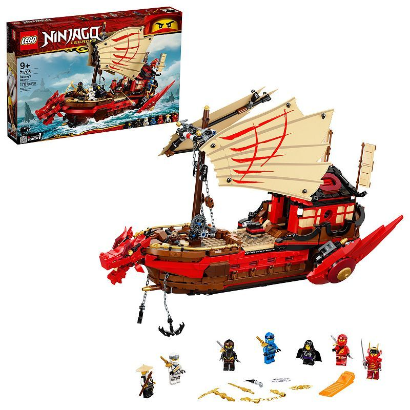 étourdissant  Mot-Clé LEGO NINJAGO Legacy Destiny's Bounty 71705 Building Kit 1,781 Pieces, Multicolor