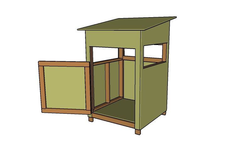 4x4 deer stand plans deer blind plans pinterest deer for Building deer blind windows