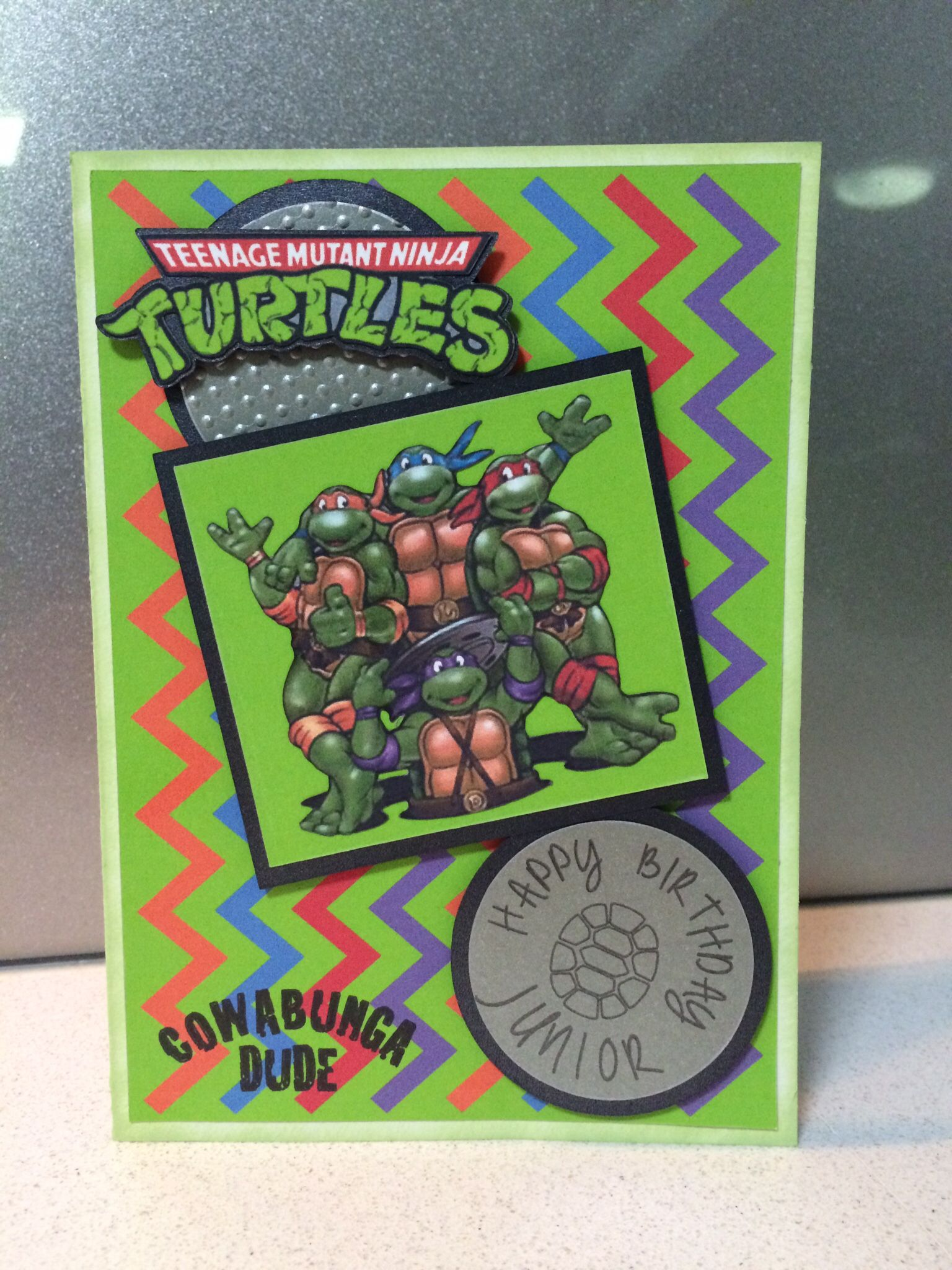Tmnt Birthday Card Teenage Mutant Ninja Turtle Tmnt Birthday Card Making Ninja Turtles