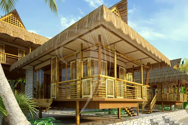 Architecture Interior Design And Render Projects By Ms Studio At Coroflot Com Bamboo House Design House Design Pictures Bahay Kubo Design