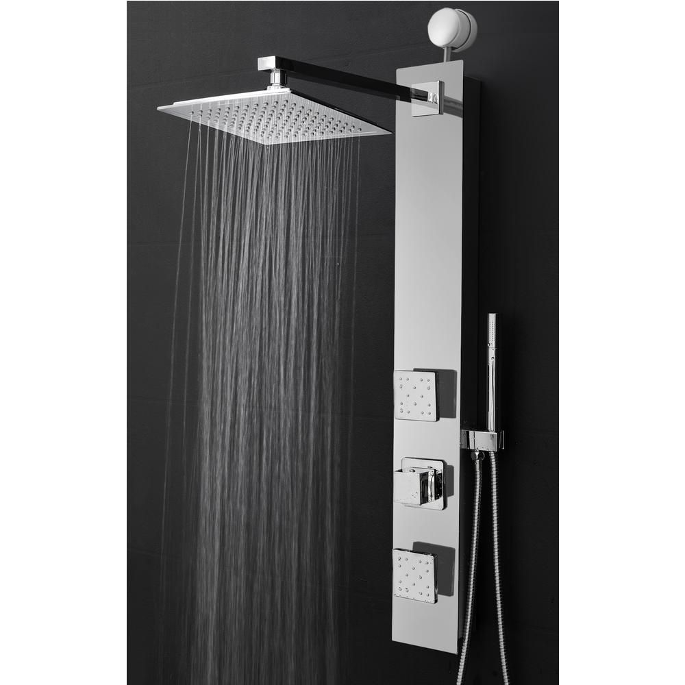 Akdy 35 In 2 Jet Easy Connect Shower Panel System In Mirror
