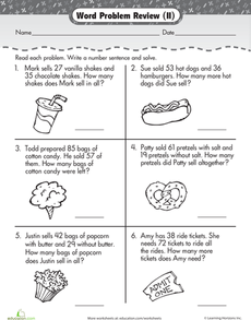 Addition and Subtraction Word Problems | Word problems, Worksheets ...
