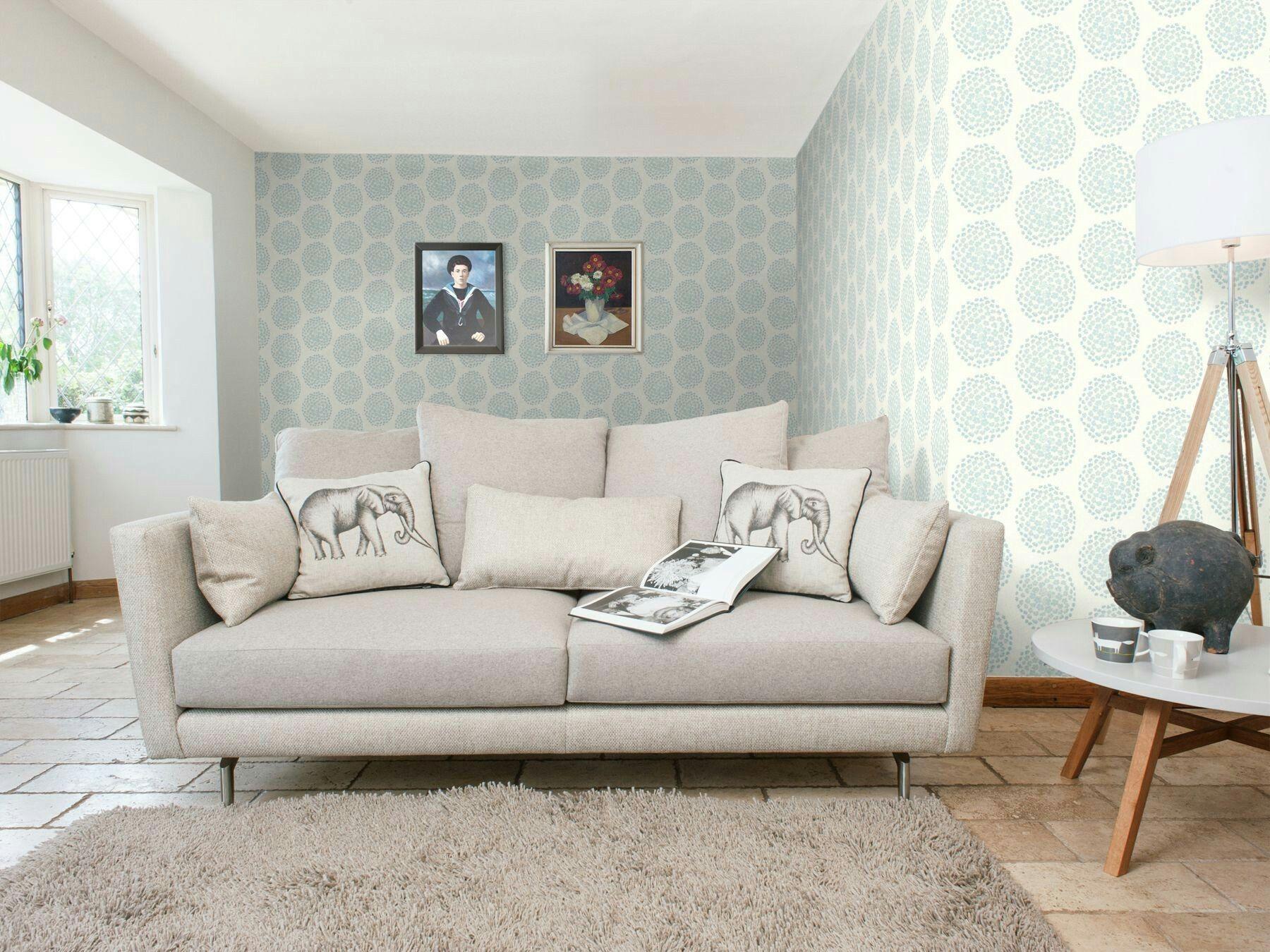 Coco Duck Egg Wallpaper Living Room Living Room Designs
