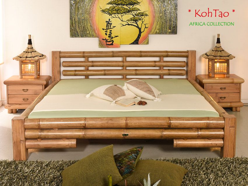 Koh Tao Designer Bambusbett 200x220 Palawan Collection Com