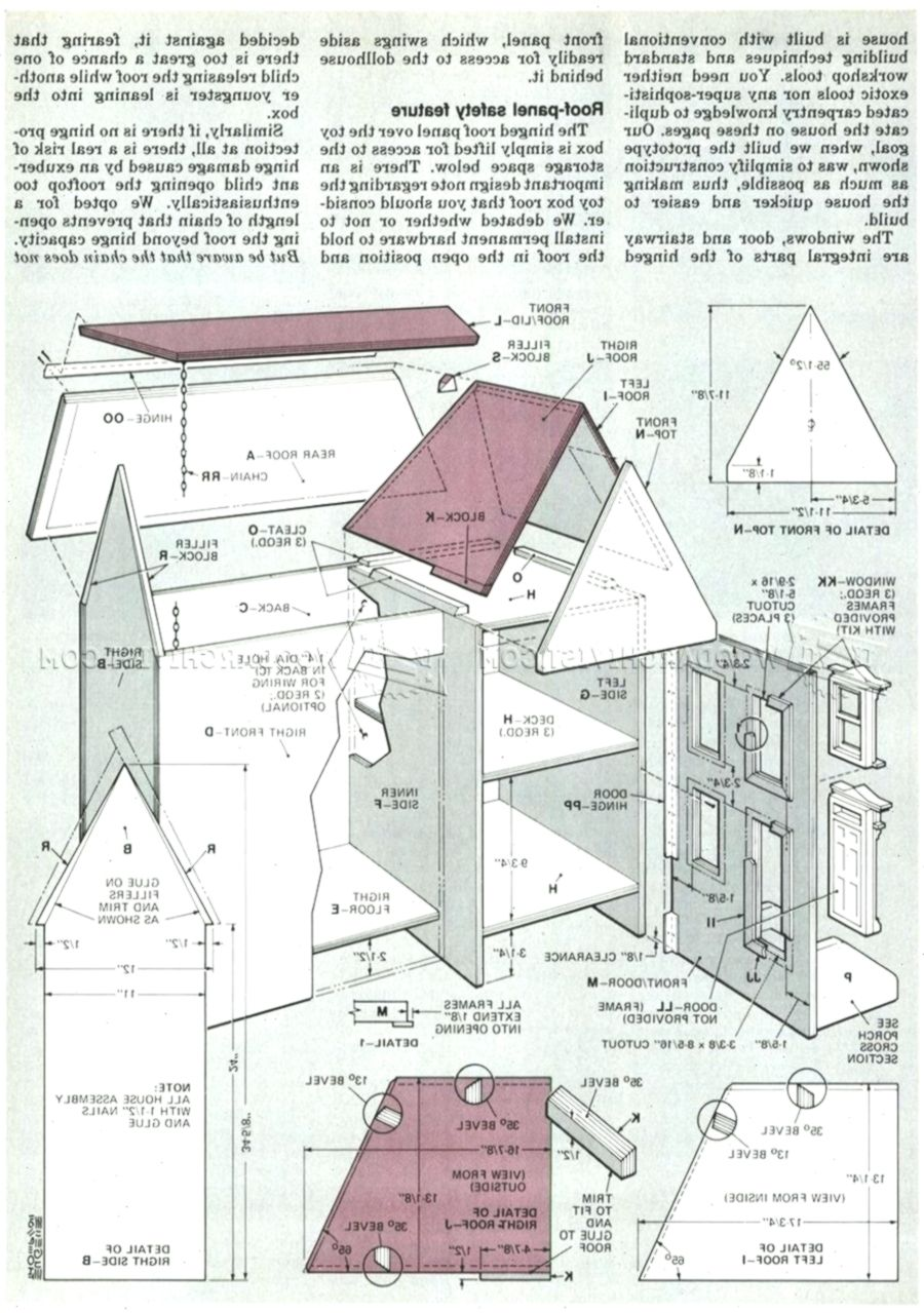 Doll House Plans Woodwork General 27 Creative Dollhouse Plans Awesome Diy Dollho Puppenhaus Dollhouse Furniture Plans Doll House Plans Diy Dolls House Plans