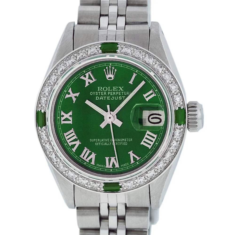 Rolex Ladies Stainless Steel Green Diamond & Emerald - Apr 17, 2020   Federal Assets Auctioneers in CA