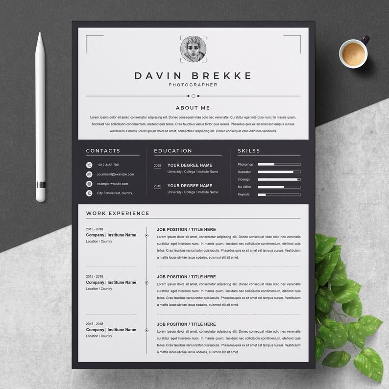 Resume Cv Template Etsy Resume Design Cv Template Resume Design Template