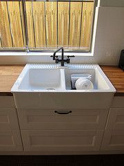 Ikea Domsjo Double Sink Numerar Benchtops With Images Ikea