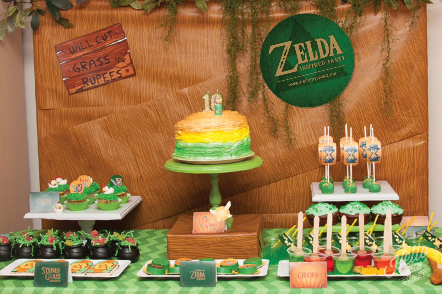 Zelda Party Set , Birthday Printable Decorations