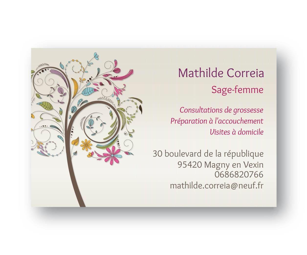 Cartes De Visite Sage Femme Arabesque Homme