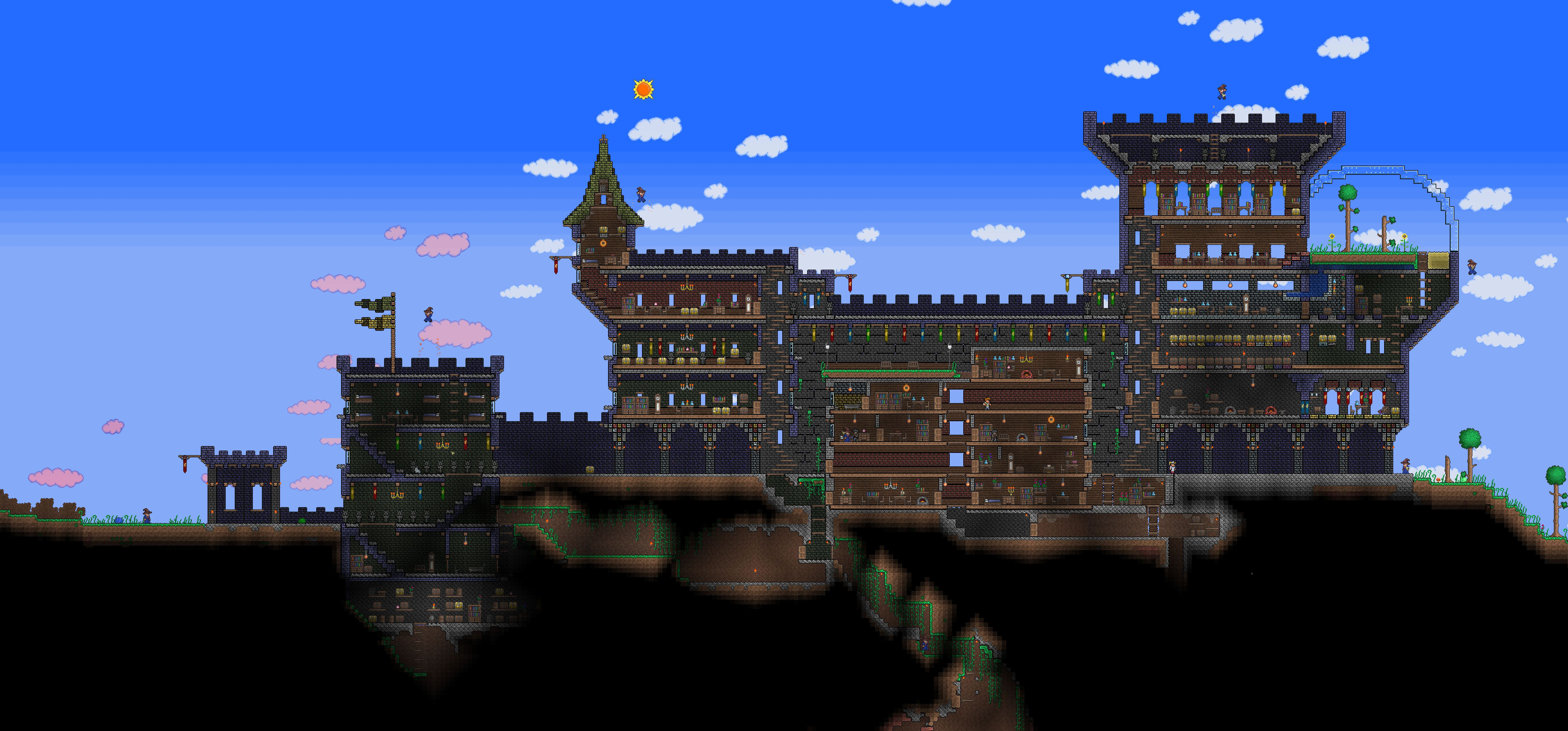 Terraria castle tower castle tower any tips terraria - Terraria Castle By Naughty Uk Deviantart Com On Deviantart