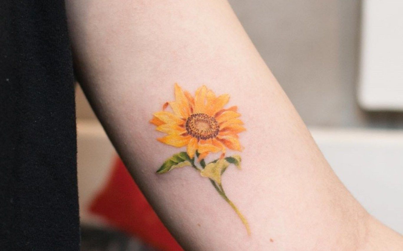 Small Sunflower Tattoo Watercolor Pictures To Pin Gardening