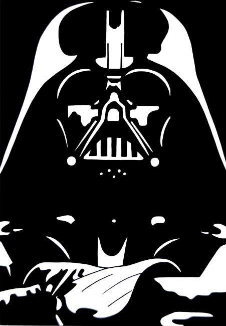 Stencil Darth Vader Silhouette Cameo Love Star Wars Stencil